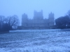 Wollaton Hall in the snow.