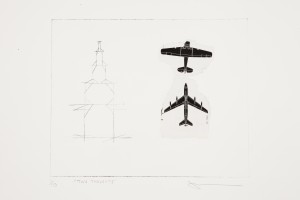 Sized 'Two Thoughts'. J.Randall. Etching & chin colle. Edition of 10.